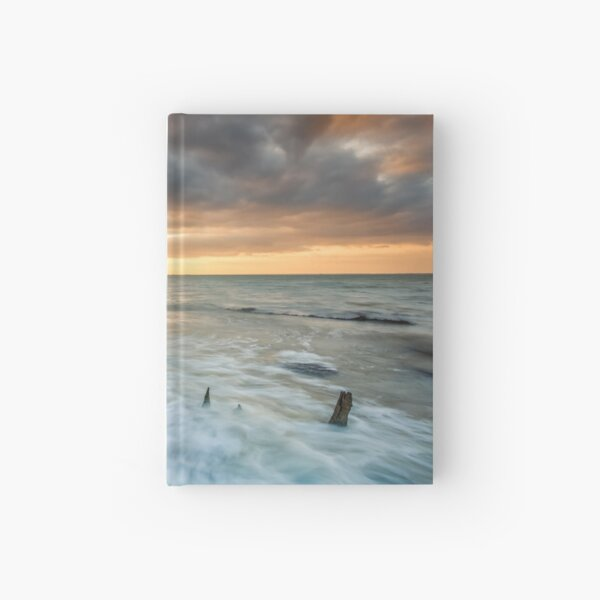 Woodside Beach Surf Sunset Isle Of Wight Hardcover Journal