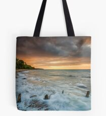 Woodside Beach Surf Sunset Isle Of Wight Tote Bag