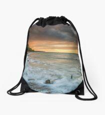 Woodside Beach Surf Sunset Isle Of Wight Drawstring Bag