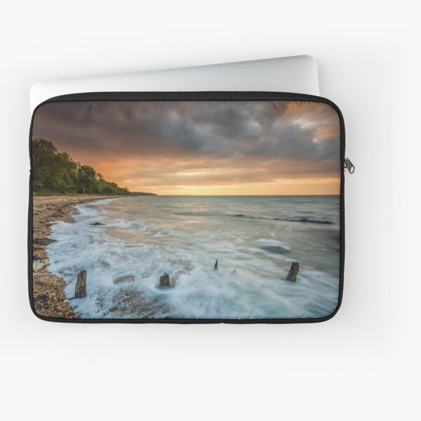 Woodside Beach Surf Sunset Isle Of Wight Laptop Sleeve