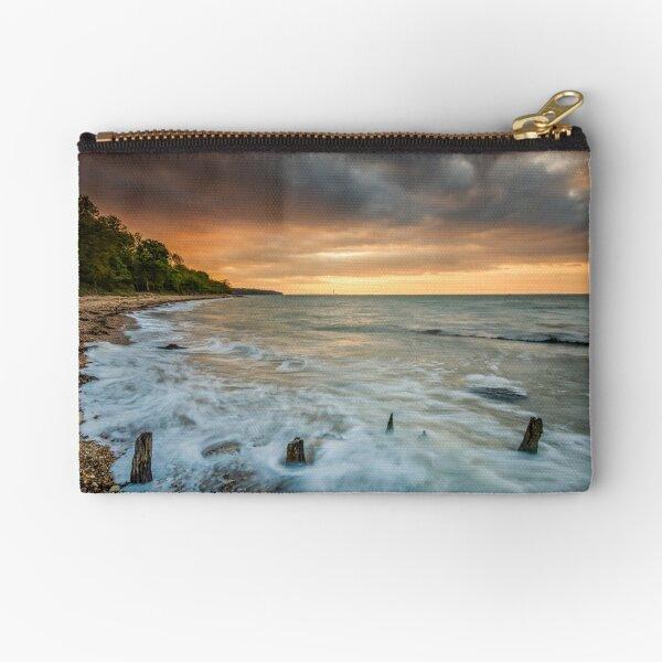 Woodside Beach Surf Sunset Isle Of Wight Zipper Pouch