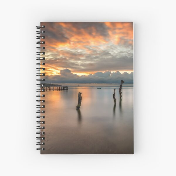 Woodside Retreat Sunset Isle Of Wight Spiral Notebook
