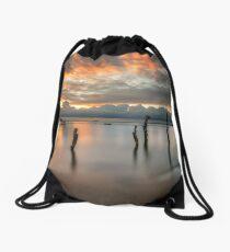 Woodside Retreat Sunset Isle Of Wight Drawstring Bag