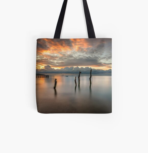 Woodside Retreat Sunset Isle Of Wight All Over Print Tote Bag
