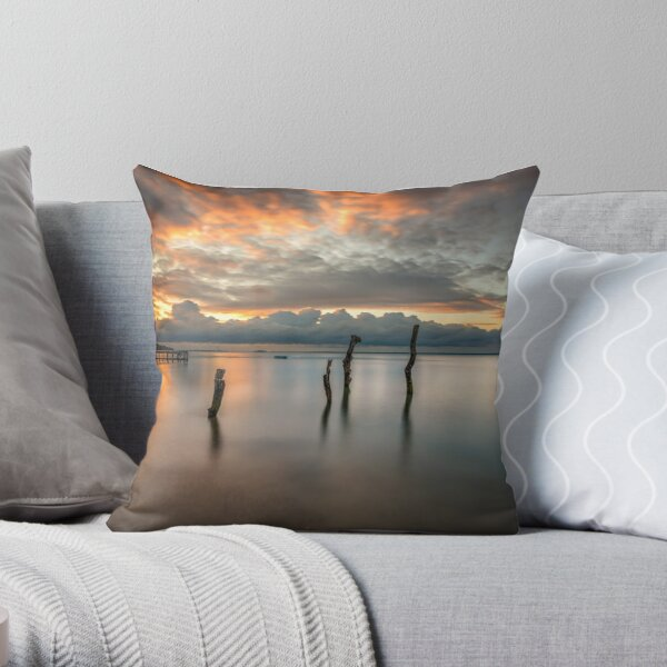 Woodside Retreat Sunset Isle Of Wight Throw Pillow