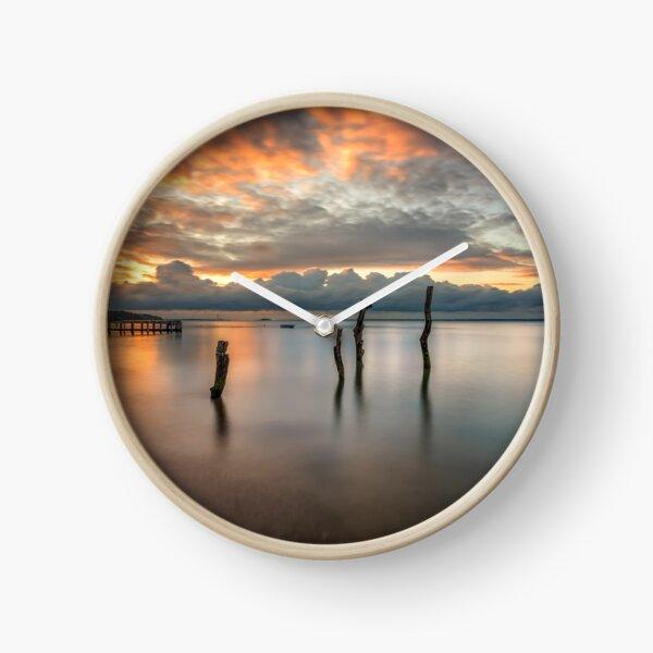 Woodside Retreat Sunset Isle Of Wight Clock