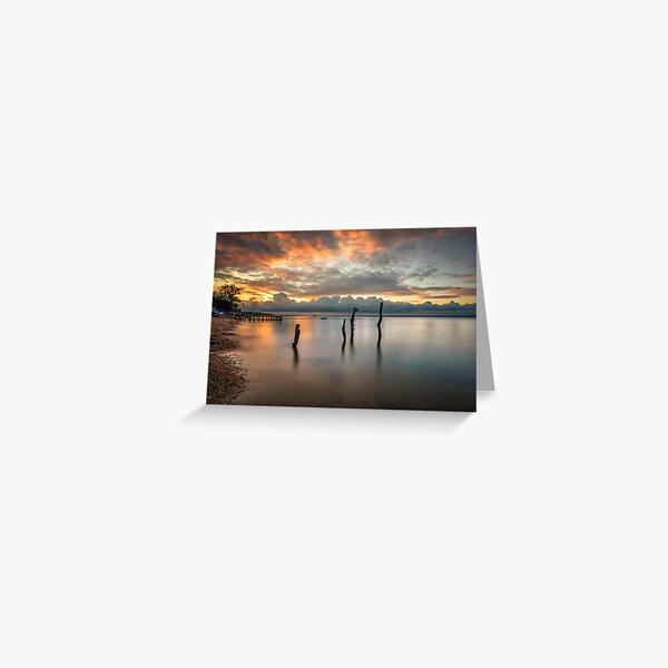 Woodside Retreat Sunset Isle Of Wight Greeting Card