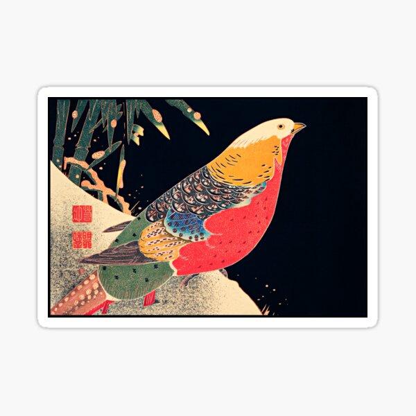 Ito Jakuchu - Golden Pheasant in the Snow Sticker