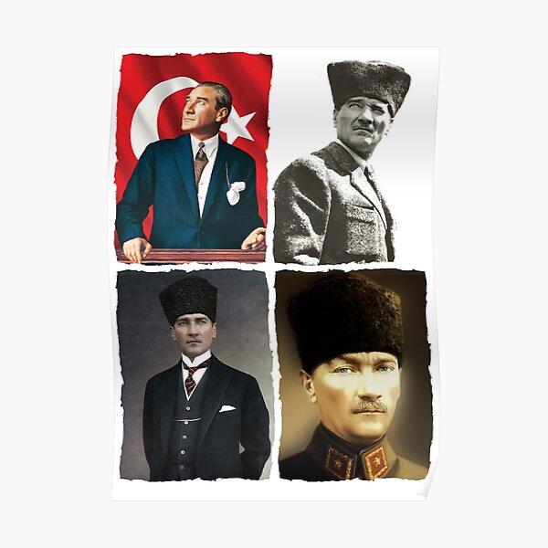 4 Atatürk portraits Poster
