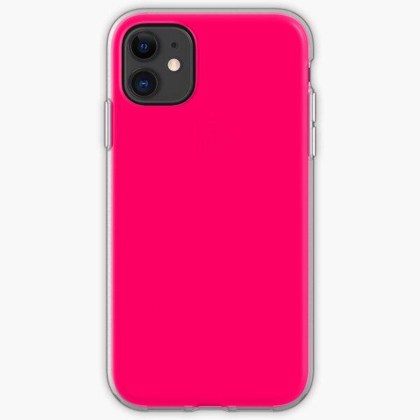 Super Bright Fluorescent Pink Neon iPhone Soft Case
