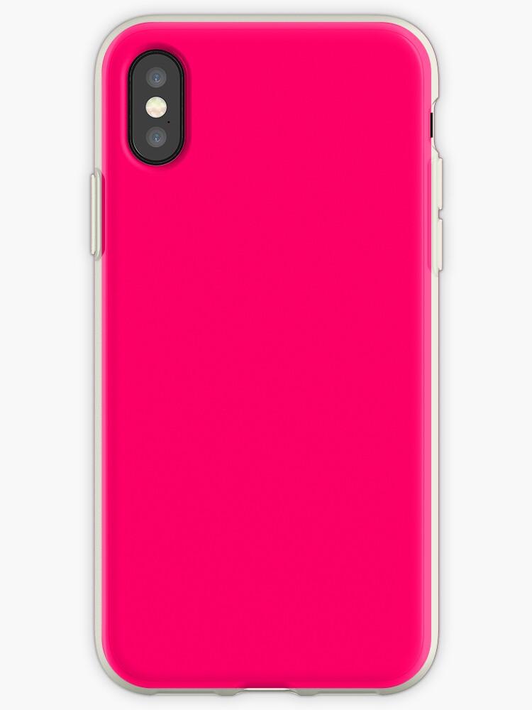 huge discount 84e63 98b00 'Super Bright Fluorescent Pink Neon' iPhone Case by podartist