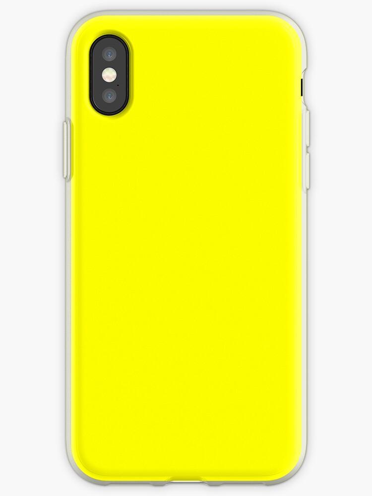 coque iphone xr jaune fluo
