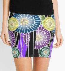 Japanese Mixed Colour Floral Pattern Mini Skirt