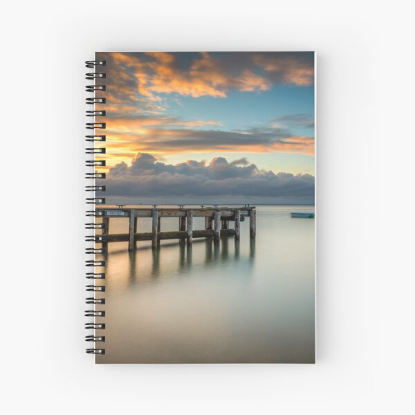 Woodside Jetty Sunset Isle Of Wight Spiral Notebook