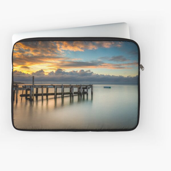 Woodside Jetty Sunset Isle Of Wight Laptop Sleeve