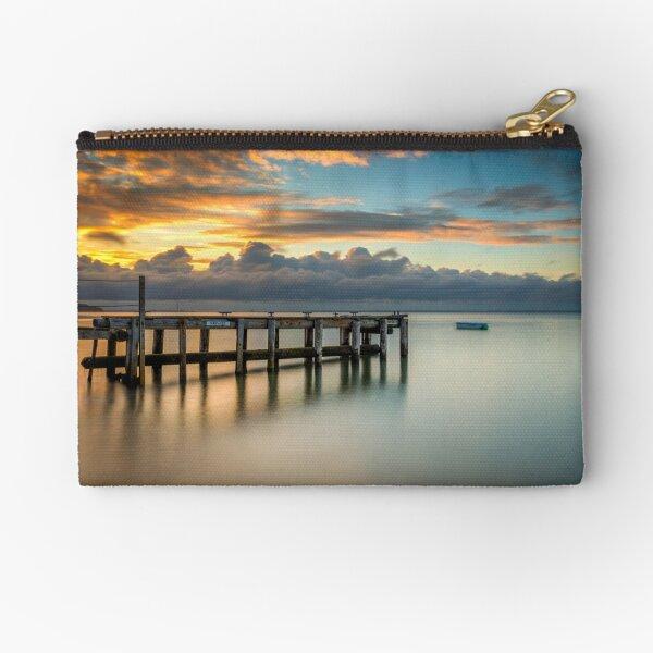 Woodside Jetty Sunset Isle Of Wight Zipper Pouch