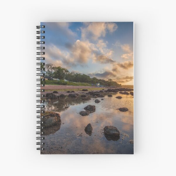 Woodside Lodge Retreat Sunset Isle Of Wight Spiral Notebook
