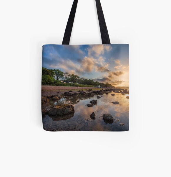 Woodside Lodge Retreat Sunset Isle Of Wight All Over Print Tote Bag