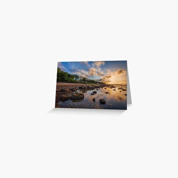 Woodside Lodge Retreat Sunset Isle Of Wight Greeting Card