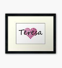 Teresa Pink Heart Lámina enmarcada