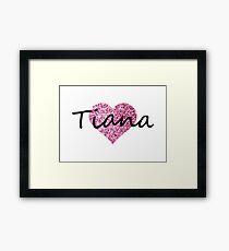 Tiana Pink Heart Lámina enmarcada