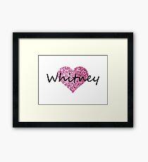 Whitney Pink Heart Lámina enmarcada