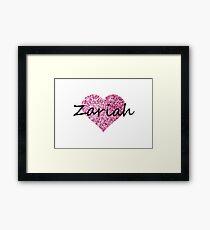 Zariah Pink Heart Lámina enmarcada