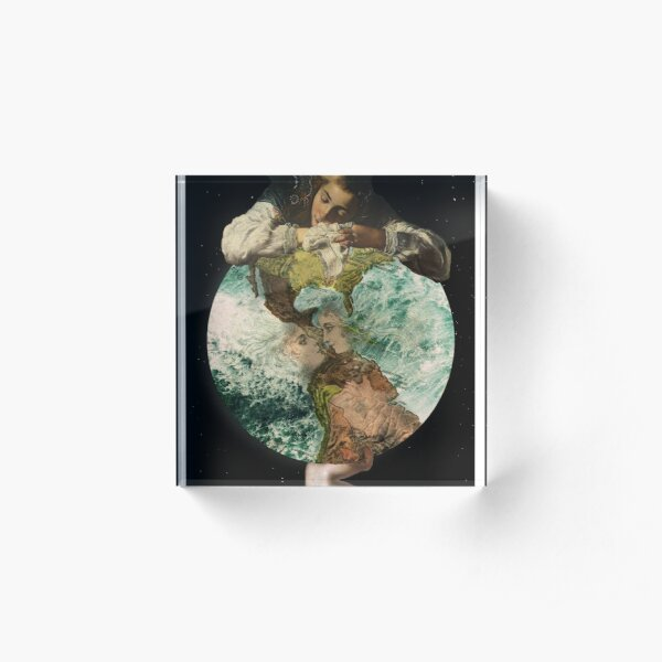Our Little Life Is Rounded In Sleep Acrylic Block