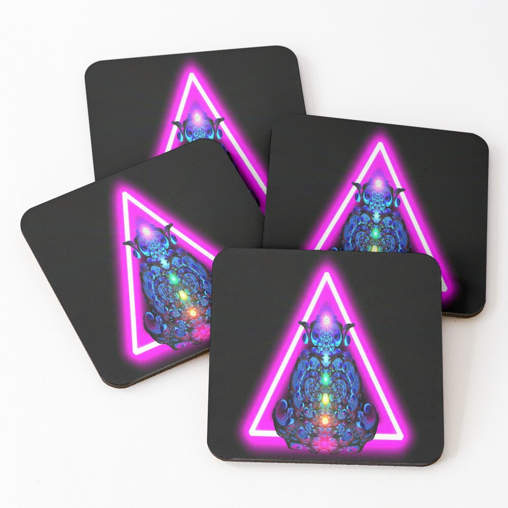 Fractalini Rising by Spaced Painter Coasters (Set of 4)
