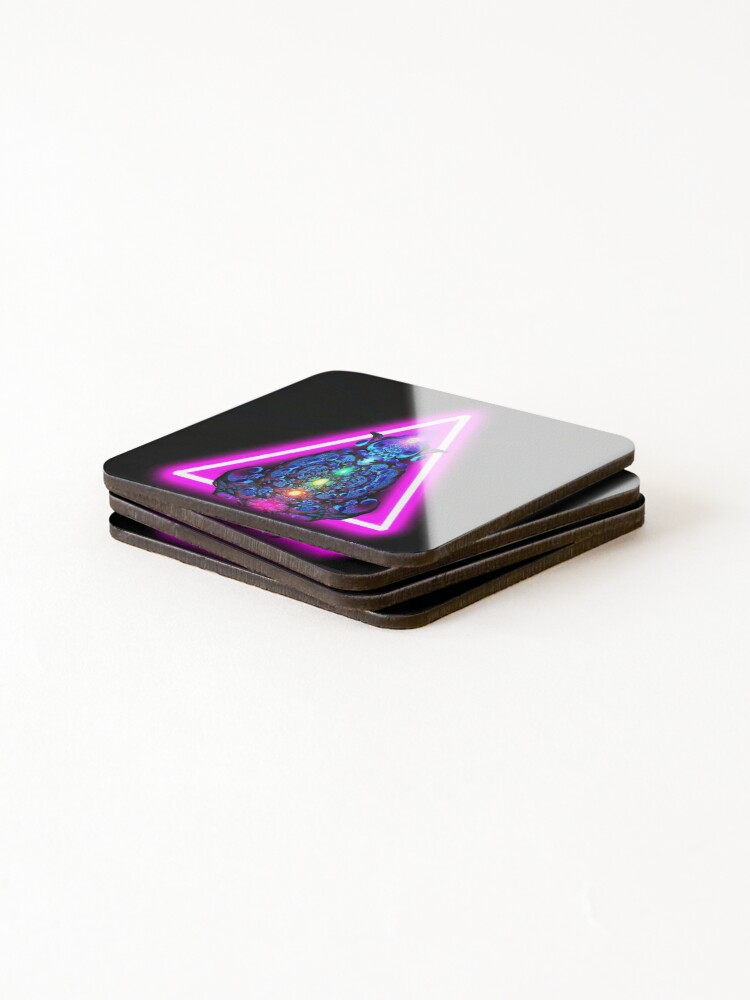 Alternate view of Fractalini Rising by Spaced Painter Coasters (Set of 4)