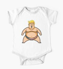 Trump in Japan as a Sumo wrestler Short Sleeve Baby One-Piece