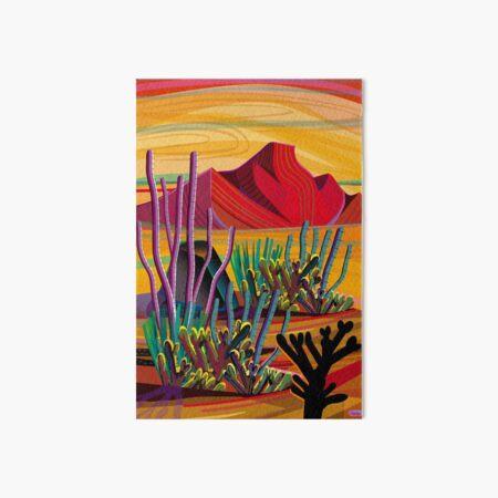 Zen Cactus Garden Art Board Print