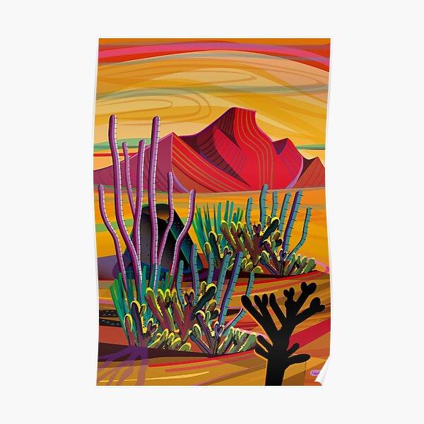 Zen Cactus Garden Poster