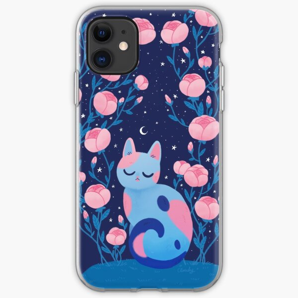 Peony cat iPhone Soft Case