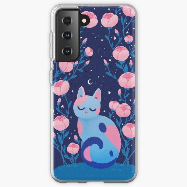 Peony cat Samsung Galaxy Soft Case