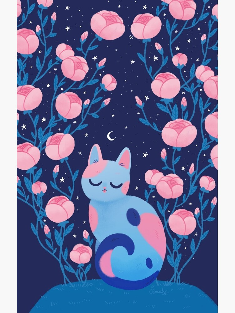 Peony cat by hellocloudy