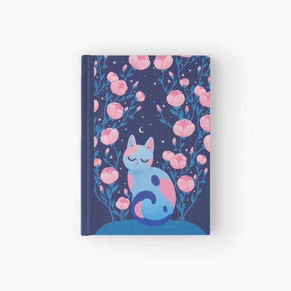Peony cat Hardcover Journal