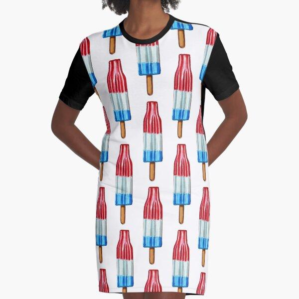 Hand Painted ROCKET POP Art  Graphic T-Shirt Dress
