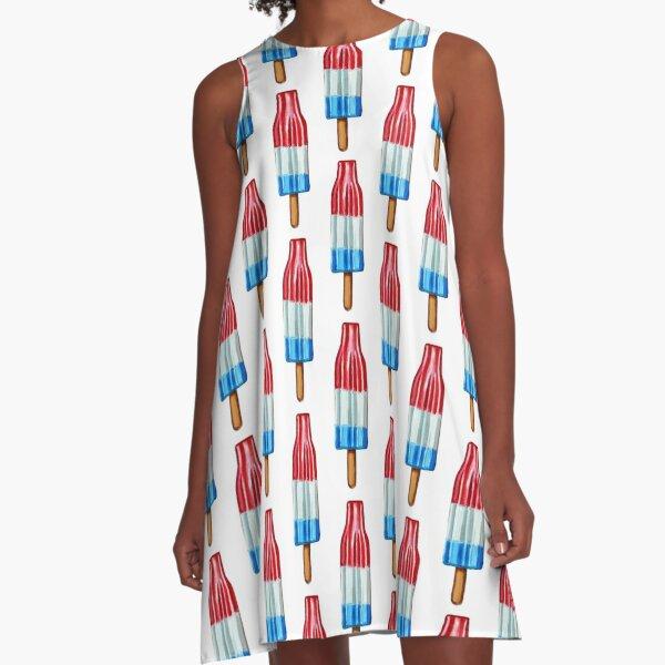 Hand Painted ROCKET POP Art  A-Line Dress