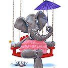 Elephant w/ Parasol by jrutland