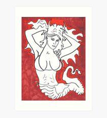 Slitherin Siren Art Print