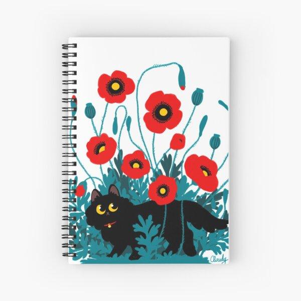 Poppy cat Spiral Notebook