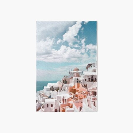 Santorini Oia Greece Art Board Print