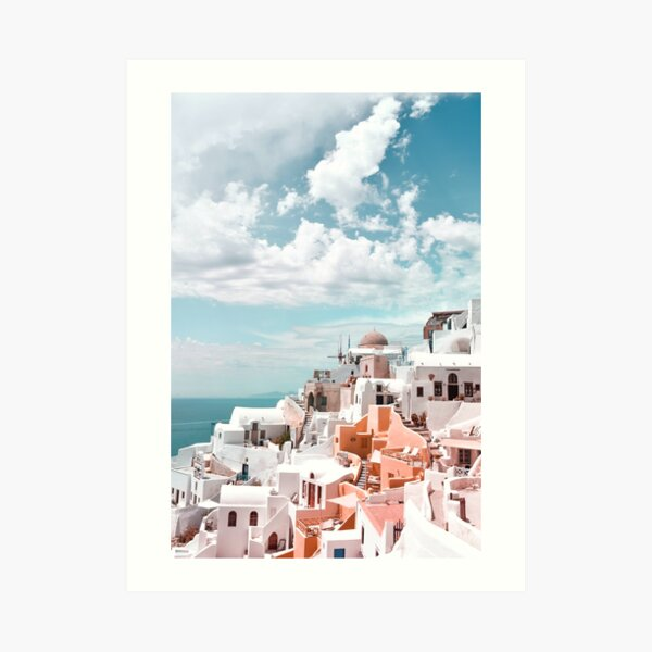 Santorini Oia Greece Art Print