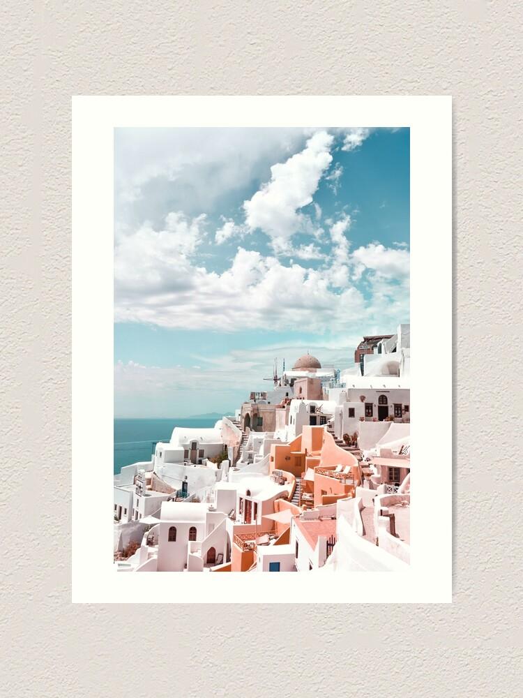 Alternate view of Santorini Oia Greece Art Print