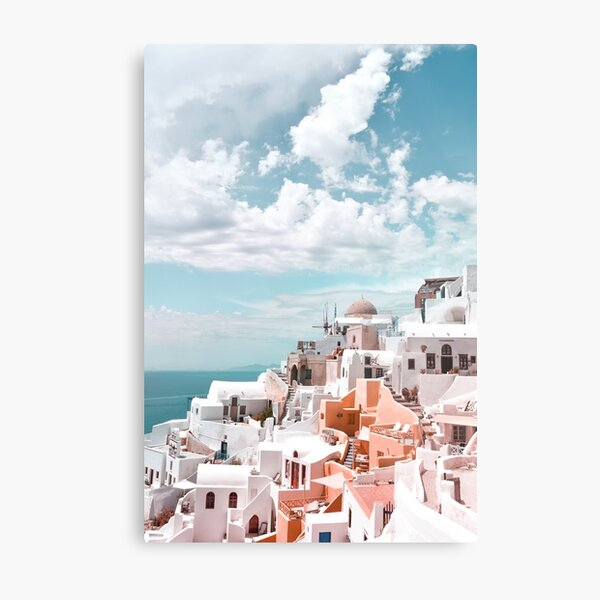 Santorini Oia Greece Metal Print