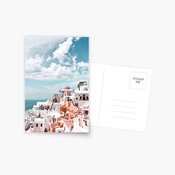 Santorini Oia Greece Postcard