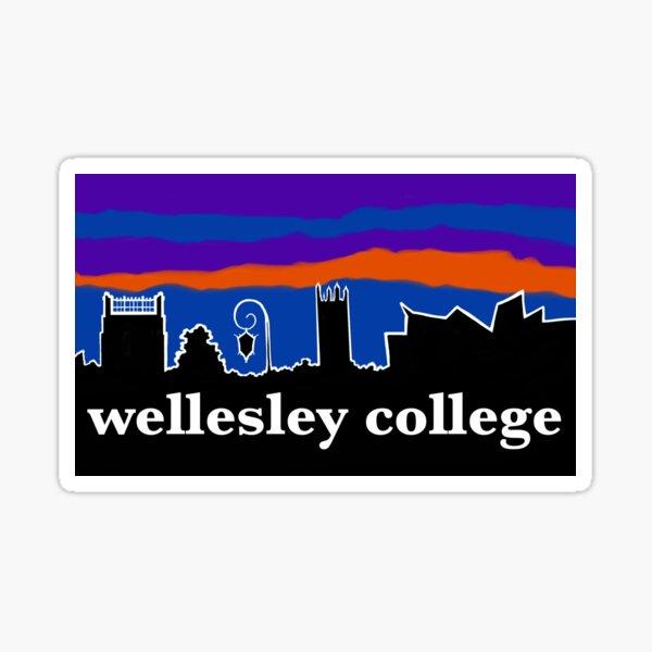 Wellesley College Skyline Sticker