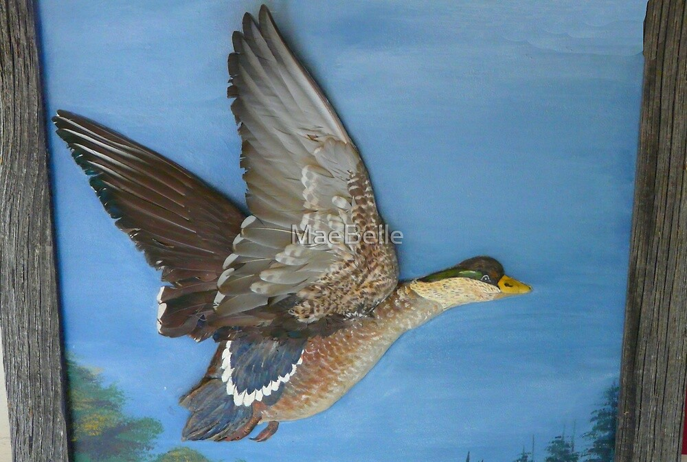 Painted Sculpture, Duck by MaeBelle