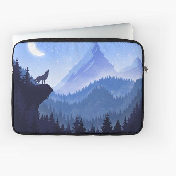 Wolf Night Laptop Sleeve